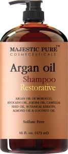 Restorative hair shampoo