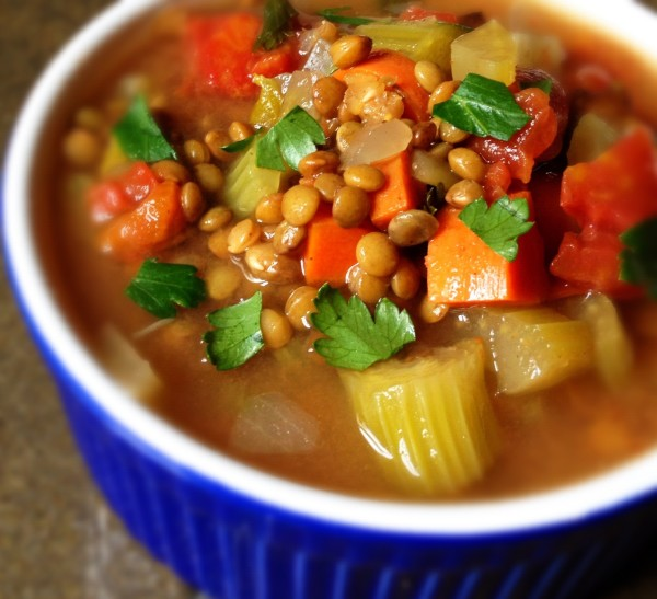 chicken seaweed lentil soup