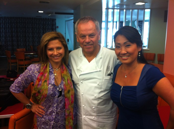 Cathlyn Choi with Wolfgang Puck and Ingrid Hoffman