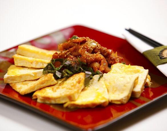 Stir fry pork and tofu